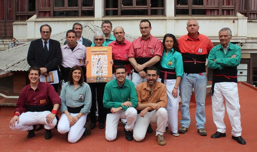 Els Minyons donem suport a la campanya #catalanswanttovote.