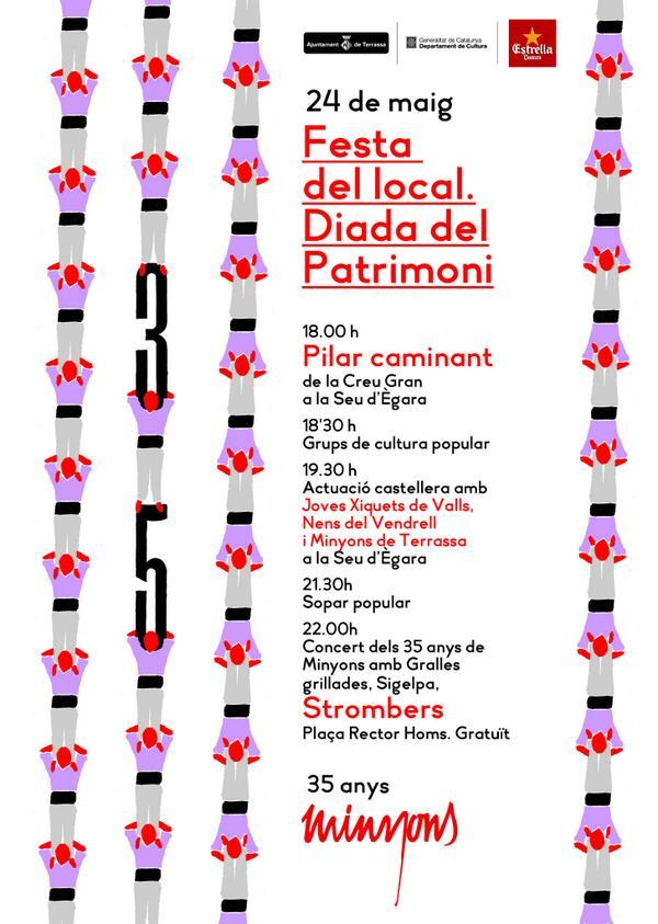 Programa d'actes de la Festa del Local pel proper dissabte.