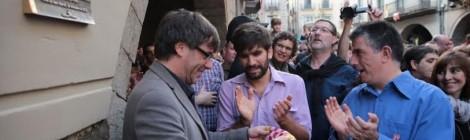 La placa del 3d10fm a Girona.