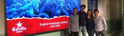Els MInyons a la jornada d'actualització de la viquipèdia castellera.