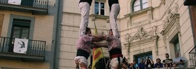 Actuació a Berga (Aniversari Castellers de Berga. Plaça de Sant Pere, 16-7-16).