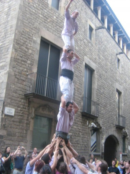 Pilar de 4, Plaça del Rei, BCN. La Mercè 2008.