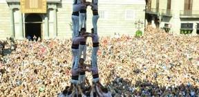 Actuació a les festes de La Mercè de Barcelona (Plaça de Sant Jaume, 25-09-16).